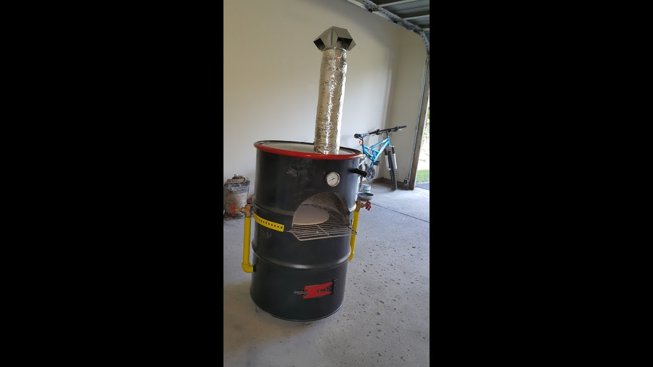 Wood Fired Mini Pizza Oven Using A 55 Gallon Drum Youtube