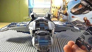 lego marvel avengers quinjet aerial battle video review set 6869