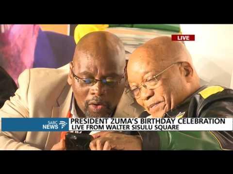 Phuzekhemisi performs at president Zuma's birthday