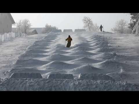 Mogul skiing-training (FIS Europa Cup, Stari Vrh, Slovenia)