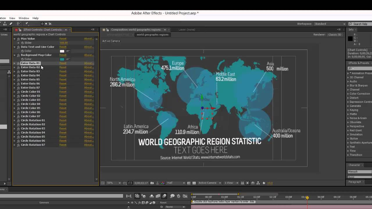 Infographics After Effects Template- World Geographic Regions ...
