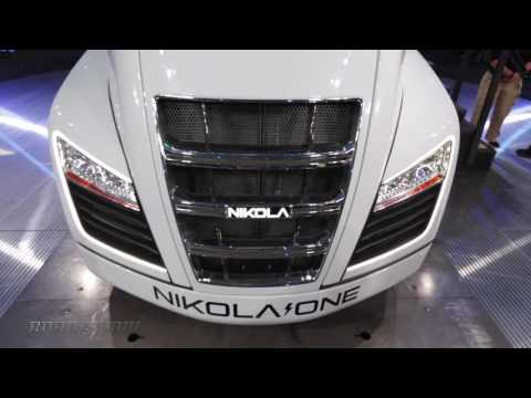 Inside the Nikola One hydrogen electric semi truck