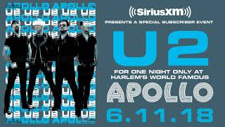 U2 to perform LIVE at Apollo for SiriusXM subscribers