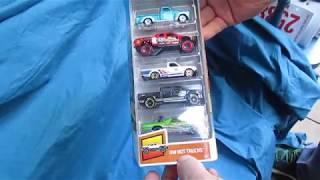 Розпакування іграшка вантажівки - гарячі колеса гарячі ГВ вантажівки 5-пакет