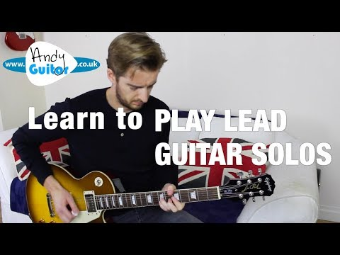How to play lead guitar solos with the minor pentatonic scale
