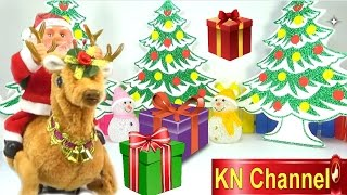 ÔNG GIÀ NOEL SANTA CLAUS BÓC ĐỒ CHƠI NOEL BẤT NGỜ trên KN Channel Kids toys