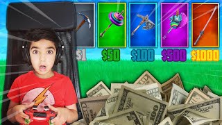 I Gave My 6 Year Old Little Brother Money For Every Correct Pickaxe Sound In Fortnite! (IMPOSSIBLE)