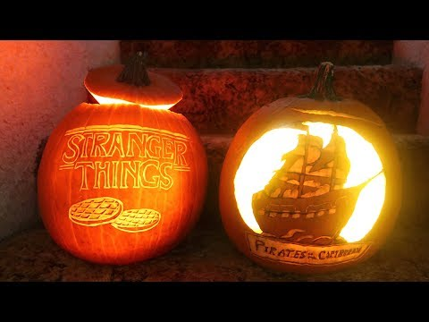 How To Carve A Pumpkin! Cool Carving Techniques! Stranger Things - Pirate Ship