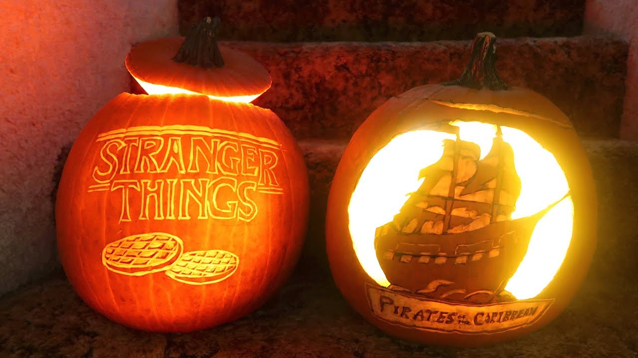 how to carve a pumpkin! cool carving techniques! stranger things