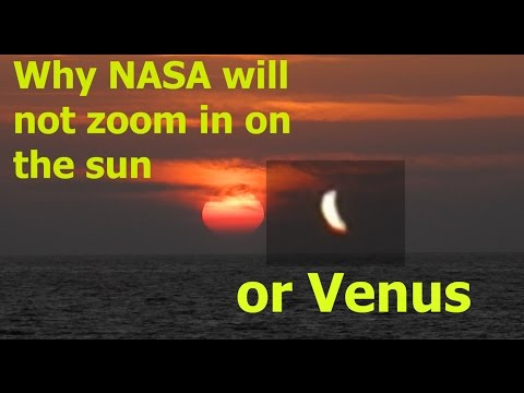 Why NASA will not zoom in on the Sunrise and Venus - Nikon coolpix P900