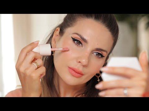 Fresh, soft peach makeup look & review of Rare Beauty  | ALI ANDREEA