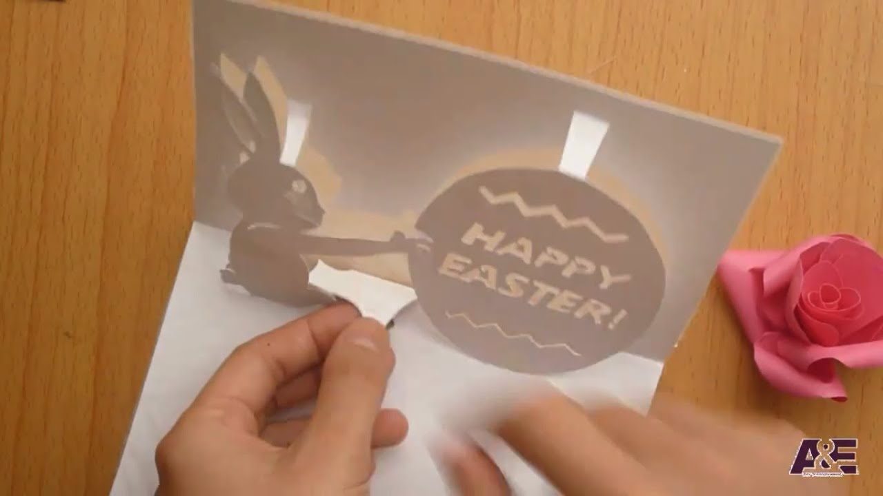How To Make Happy Easters PopUp Card Tutorial Template 2 of 2 – Easter Pop Up Cards