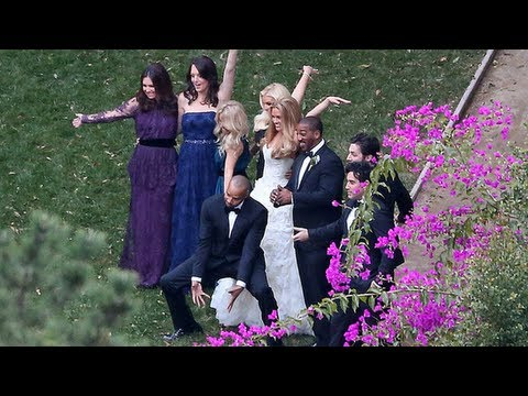 Jessica Simpson Attends CaCee Cobb and Donald Faison's Wedding