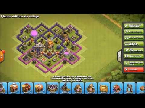 Clash of clan base HDV 7 avec 3 AA Hybride