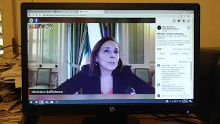 Ci gca questions italian interior minister luciana lamorgese on trump #huawei 5g entry #china #i...