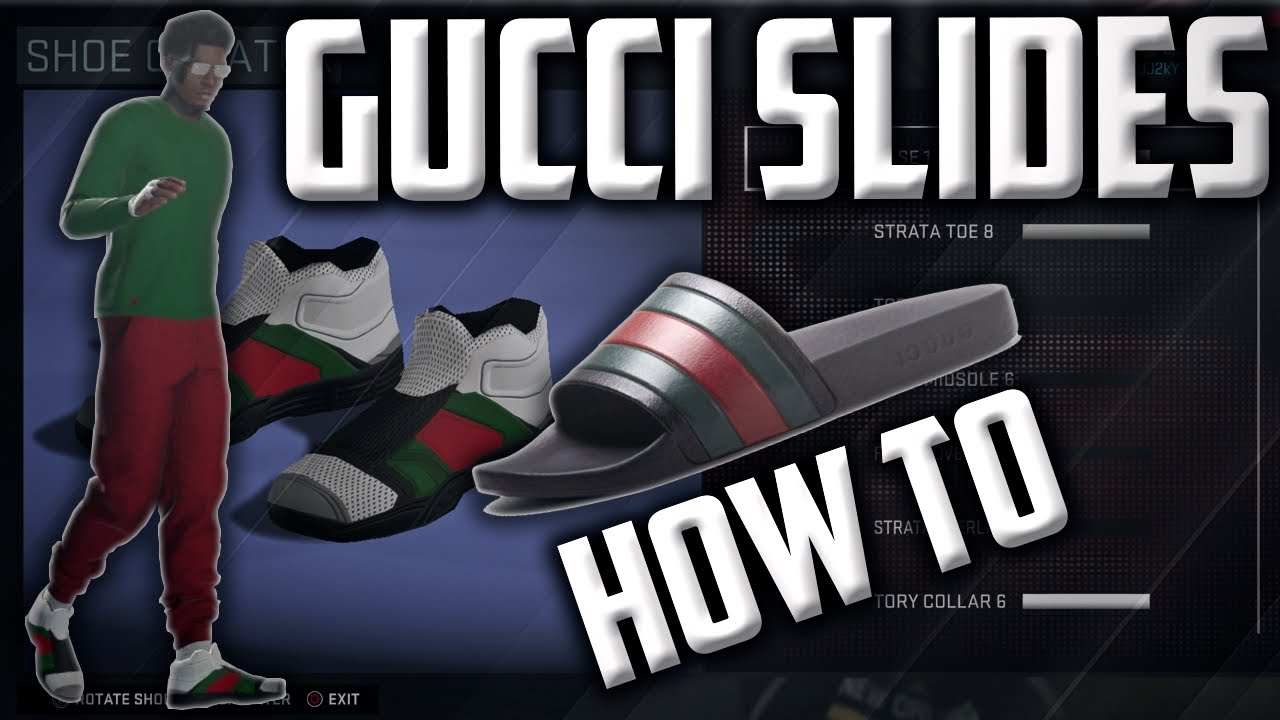 def37fad178c NBA 2K16 Gucci Flip Flop CREATION! - How To Make Them! - YouTube