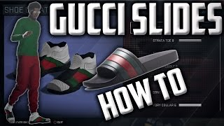 NBA 2K16 Gucci Flip Flop CREATION! - How To Make Them!