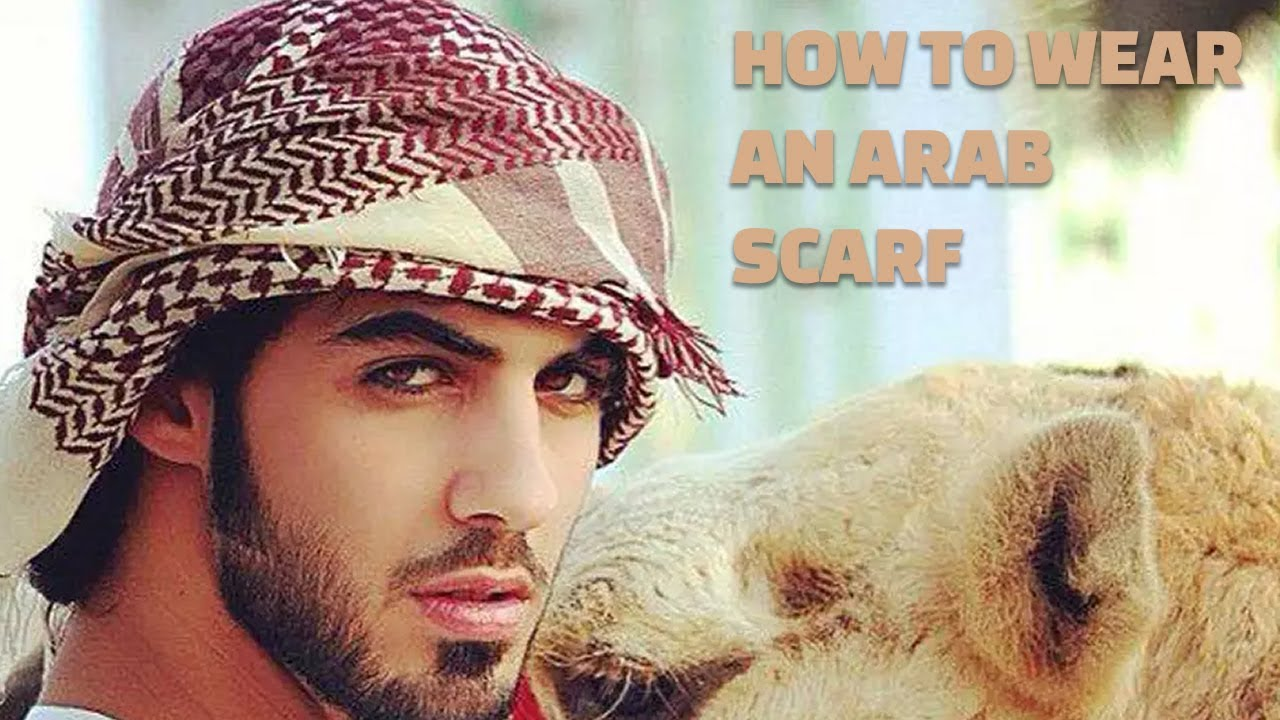 How To Wear An Arab Scarf - 6 Steps - {Omar Borkan} - YouTube