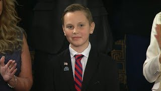 President Trump highlights efforts of boy who placed flags on veterans' graves