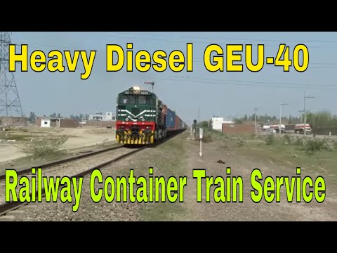 American style locomotive || GEU-40 Long Container Train departure Faisalabad Dry Port in 2018 |