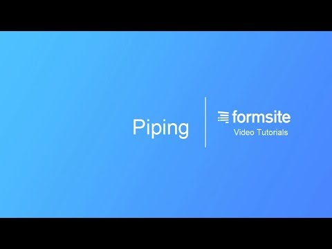 Piping – Formsite Support