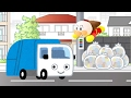【幼児向け】ゴミ収集車くんと町のお掃除をしよう♪★はたらくくるま アニメ アンパンマン 音楽 Garbage truck