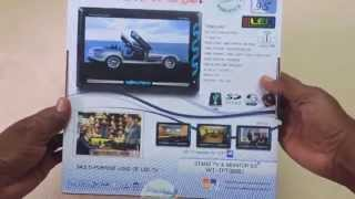 Worldtech 9 Inch LED TV - USB /Memory Card/Camera/AV Input