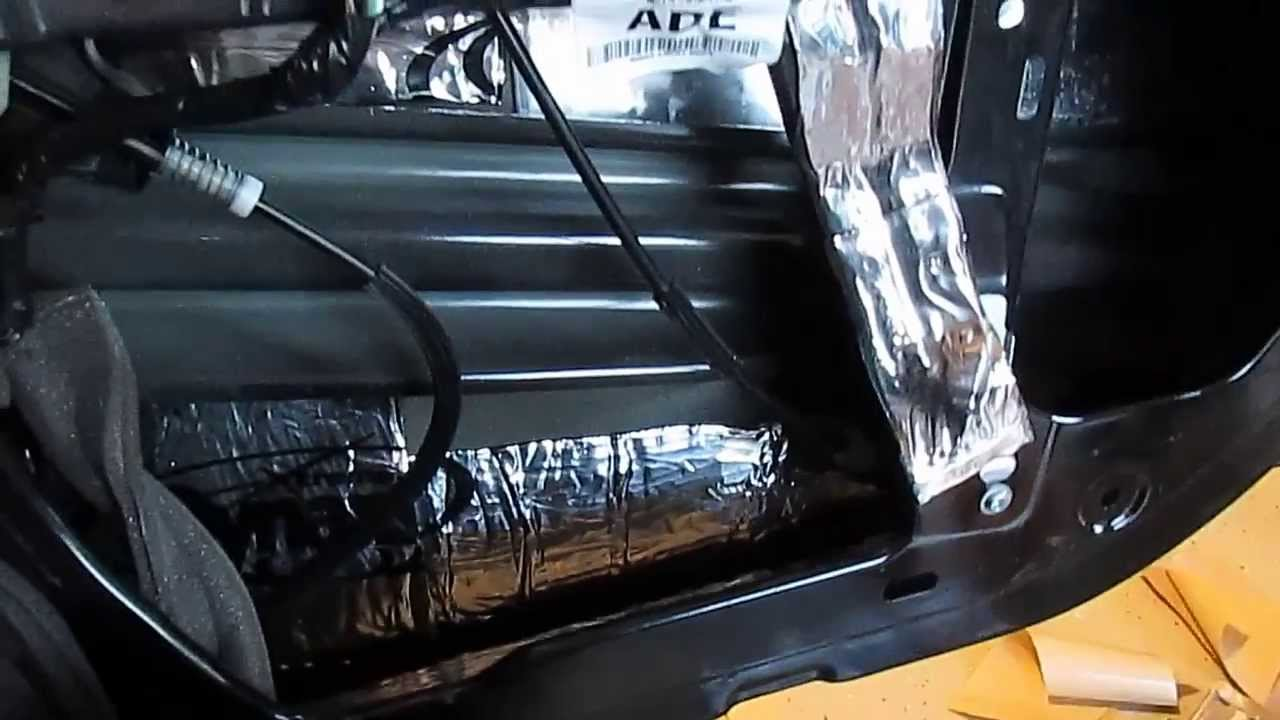 How To Sound Deadening Material Installation Dynamat