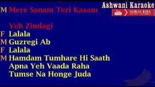 Tumse milke aisa laga Karaoke with female voice