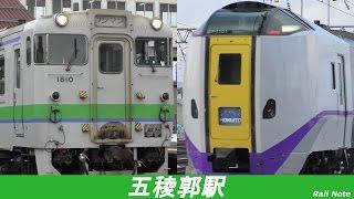ハイパワー特急からローカル列車まで 初冬の五稜郭駅/From high power limited express to local train, First winter of Goryokaku