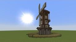Minecraft Tutorial - Windmühle bauen - build a Windmill #1