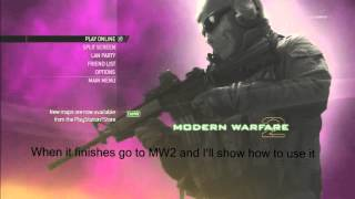 MW2 How to get Unlimited CFG Tutorial! (No Jailbreak)