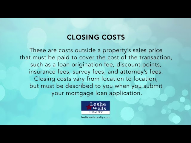 Leslie Wells Realty Real Estate Terms
