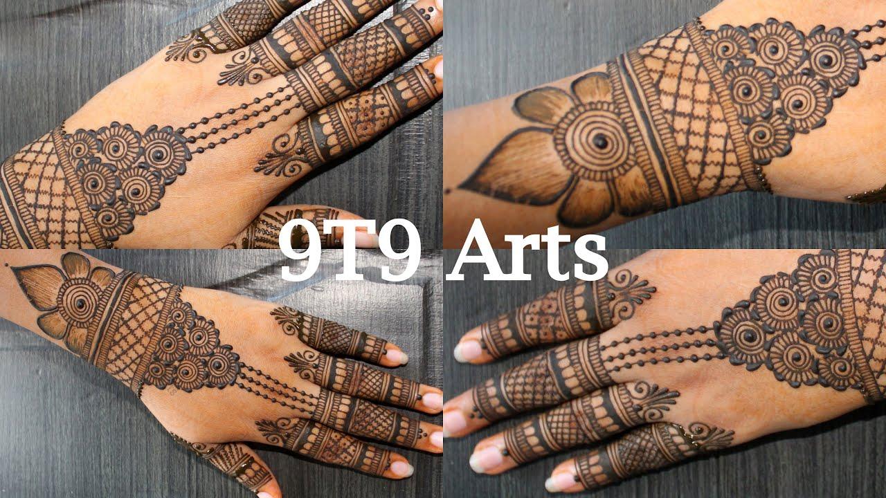 Rakhi Mehndi Designs by 9T9 Arts | Simple Mehndi | Easy Mehendi | Latest Mehandi | New Finger Mehndi