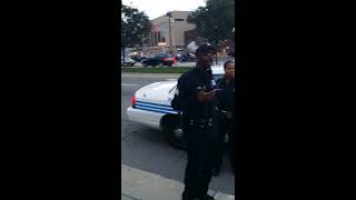 Black racist Detroit cop Open carry