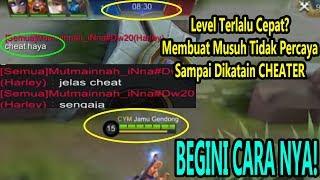 Cara Tercurang Agar Cepat Level 15,Sampai Musuh Ngatain CHEAT! Begini Cara nya! - Mobile Legends
