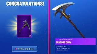 How To Get DRAGONS CLAW PICKAXE and HYBRID CHALLENGES GUIDE in Fortnite Season 8!