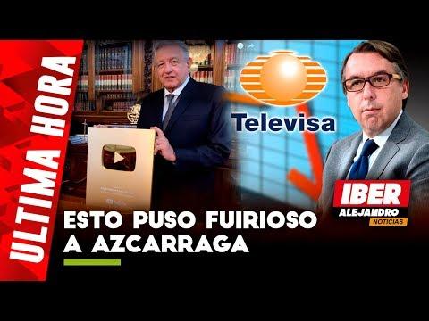 """AMLO Humilla a Televisa; """"Siempre Me Censuraban"""",Declaró AMLO Tras Recibir Boton de Oro de Youtube"""