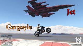 GTA 5 - Speed Exploit - Gargoyle vs. Jet! (Easy Method)