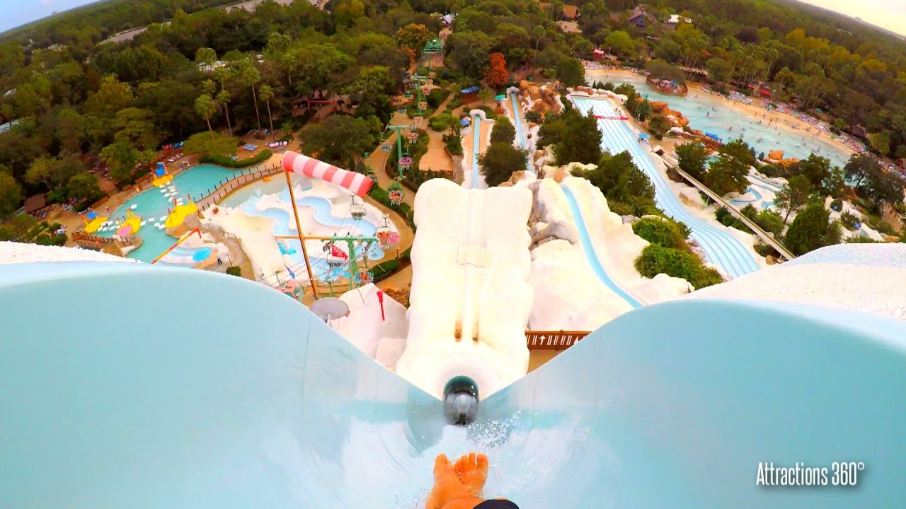 4k Summit Plummet Tallest Freefall Body Water Slide Disney S