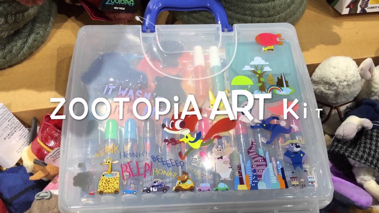 Zootopia Art Kit Disney Store Quick Overview In 4k