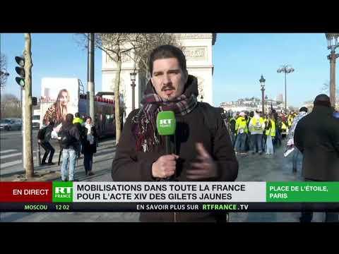 Acte 14 des Gilets jaunes : premier point à Paris avec notre reporter Kyrill Kotikov