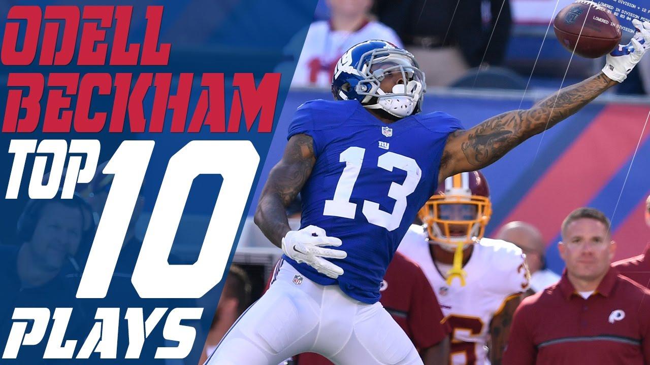 wholesale dealer a26dc 04402 Odell Beckham Jr.'s Top 10 Plays of the 2016 Season | New York Giants | NFL  Highlights