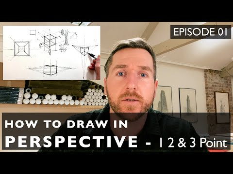 How to Draw in Perspective 01 - 1, 2 & 3 point perspective and why you should know all three
