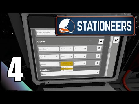Stationeers 4:  Programming Automated Solar Panel Movements..  Let's Play First Impressions