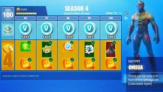 """How To Get FREE Saison 4 """"MAX BATTLE PASS"""" Tier 100 dans Fortnite Battle Royale! (Nouvelle saison Fortnite)"""
