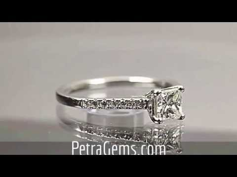 Blue Nile Signature Princess Cut Engagement Ring