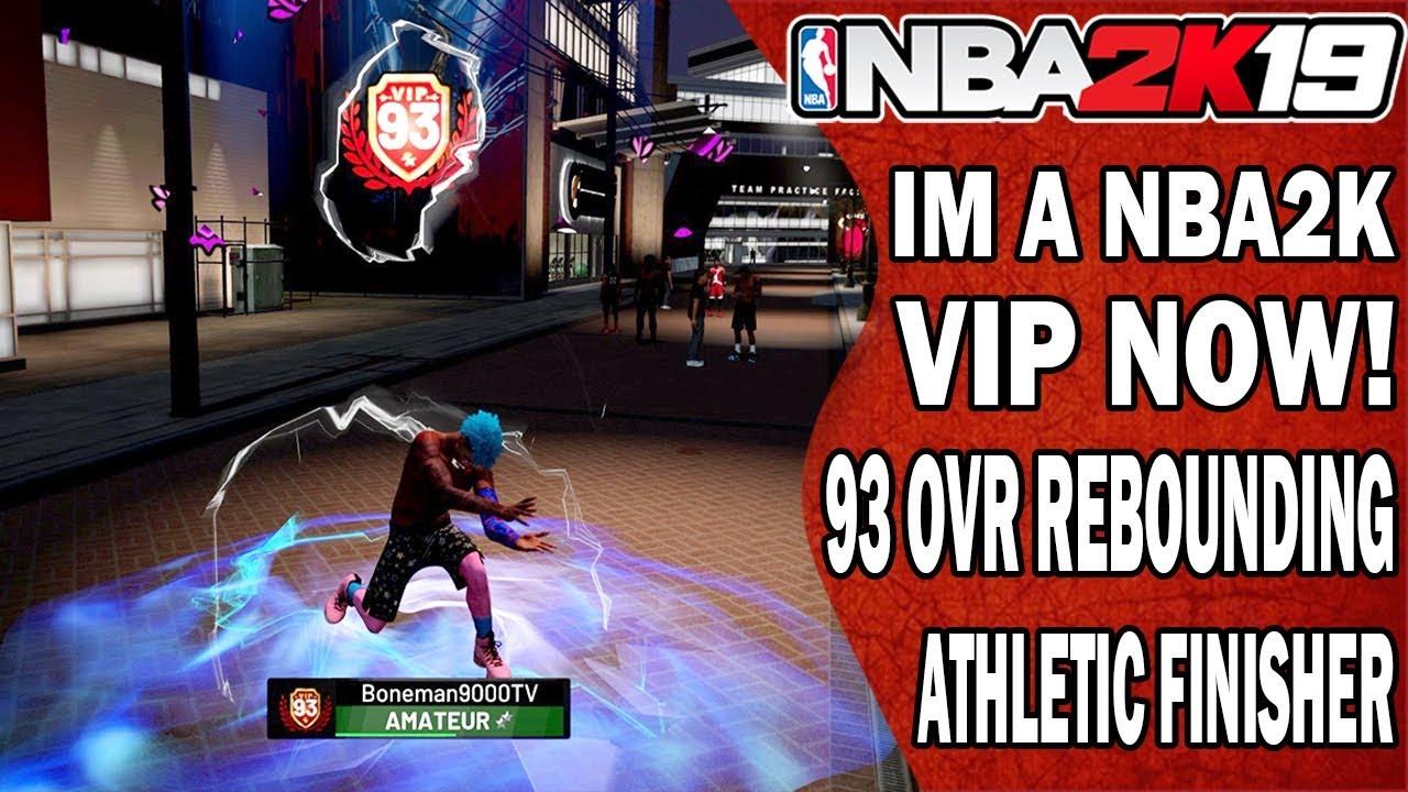 NBA 2K19 Rebounding Athletic Finisher Power Forward 93 Overall 2K VIP