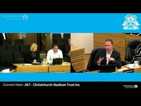 17.05.18 - Item 3 - Verbal Submissions - Christchurch Stadium Trust Inc