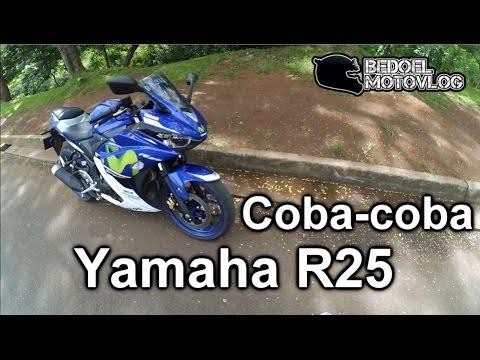 Coba-coba Yamaha R25 | Motor ngeraung.. | #MotoVlog Indonesia